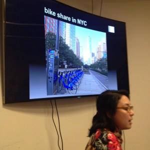 quick photo of Jennifer presenting her work.