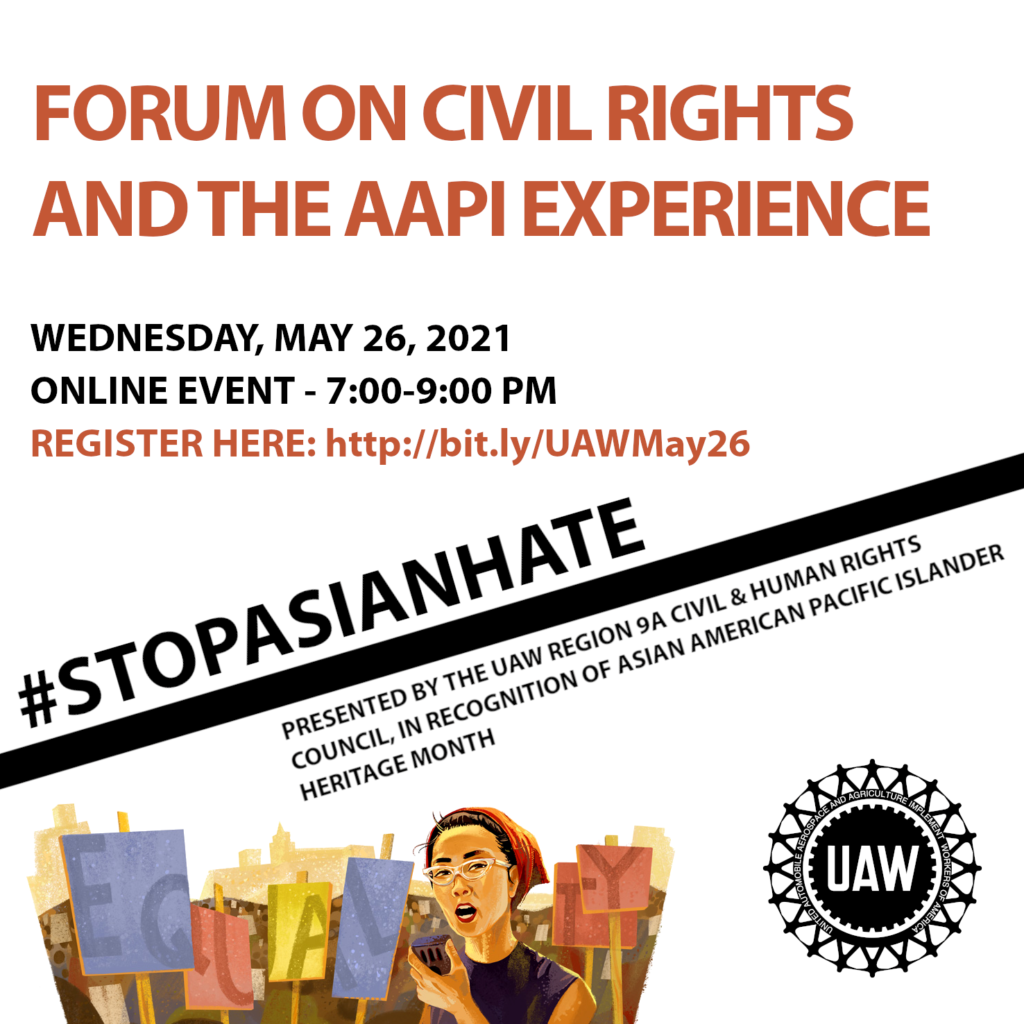 Poster for May 26 AAPI Forum